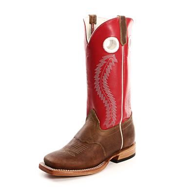 Red Olathe Kids Cowboy Boots