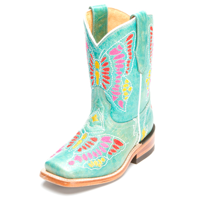 Turquoise Corral Kids Cowboy Boots