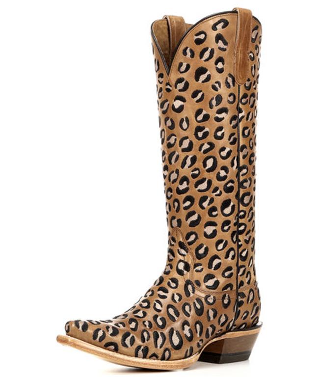 Ariat leopard print cowboy boots
