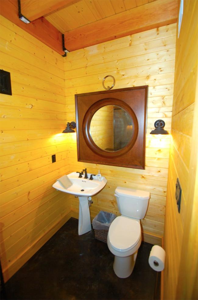 Bathroom inside the barn