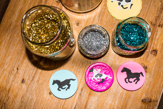 DIY Painted Horse Lid collection