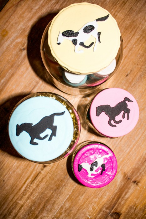 DIY Painted Lids with Jars