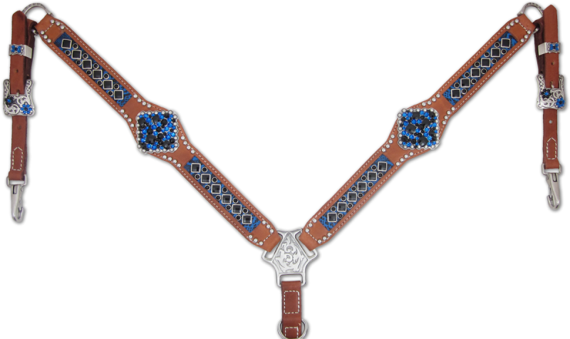 Heritage Brand Blue Inlaid Breast Collar