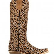 Leopard print Ariat cowboy boots
