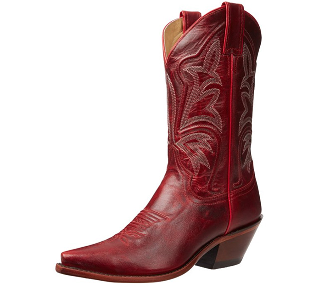 Red Justin cowboy boot classics