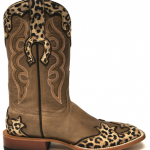 Horse Power Overlaid Leopard Print Boots