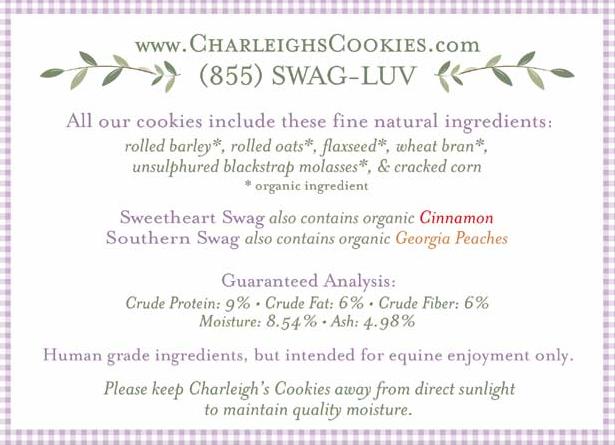 Charleigh's Cookies Ingredients