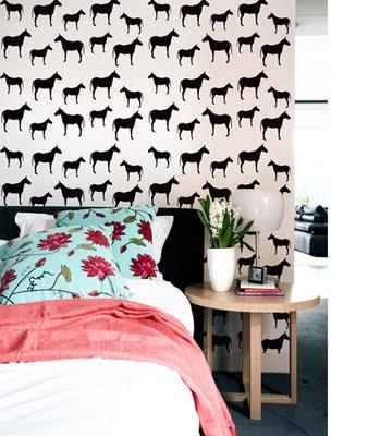 Equestrian Decor, horse wallpaper print