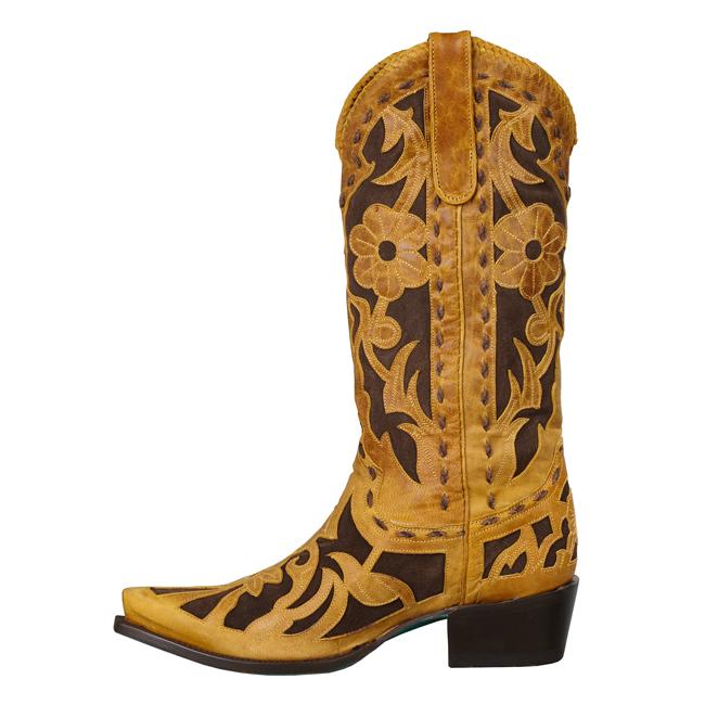 Lane Poison Cognac Cowboy Boots