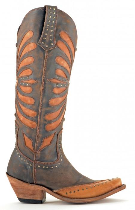 Liberty Black Vintage Brown Boots