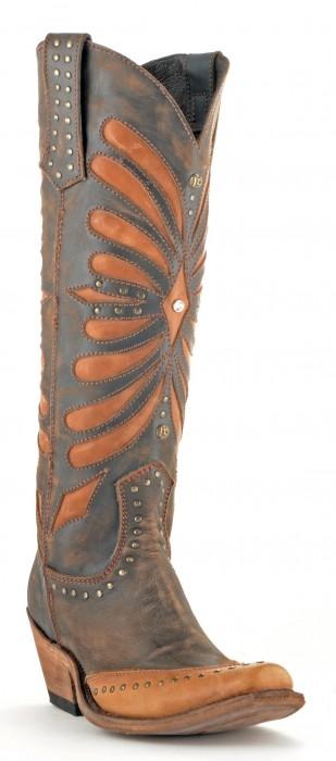 Liberty Black Vintage Brown Cowboy Boots