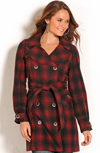 Powder River Carolina Plaid Wool Coat