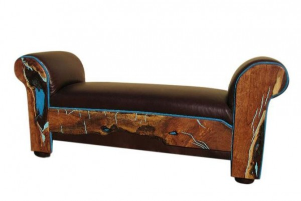 Turquoise Eloquence Bench
