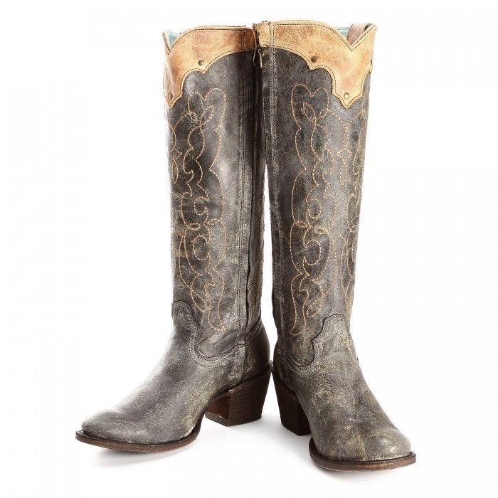 Black Corral Antique Saddle Boots