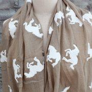 Horse print scarves