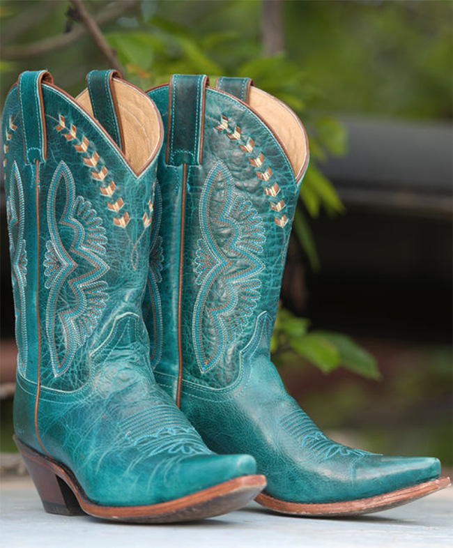Justin Turquoise Damiana Boots