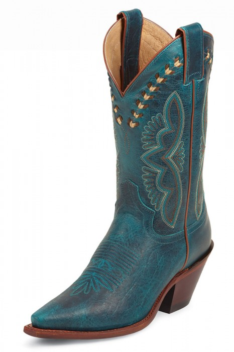 Justin Turquoise Damiana Cowgirl Boots