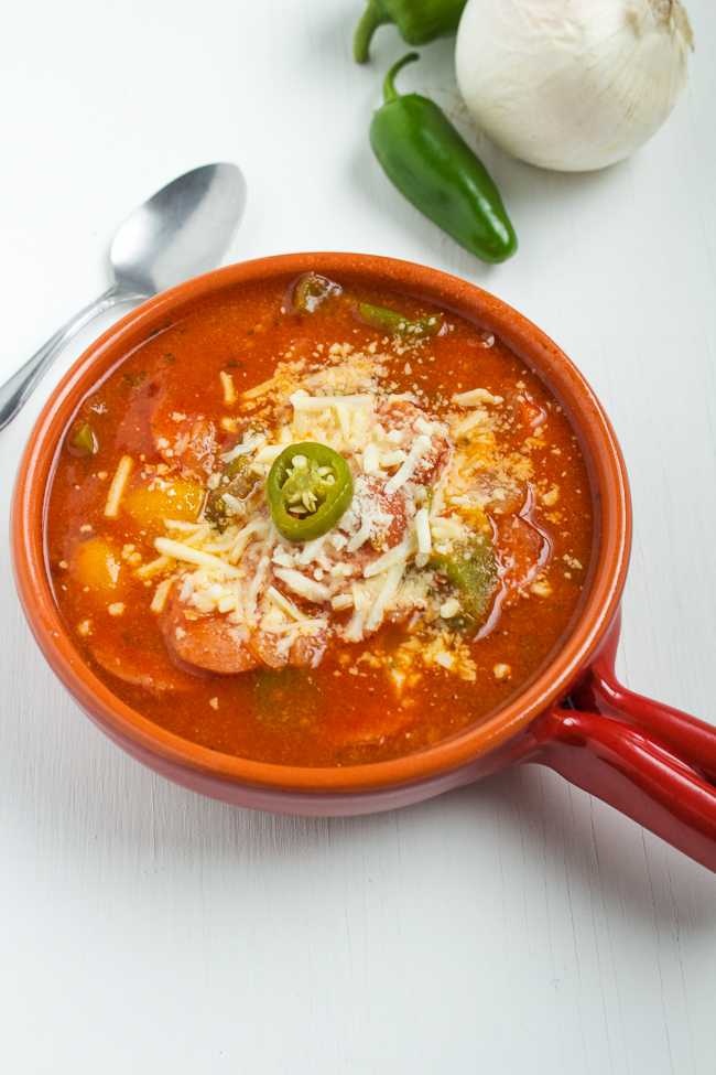 Spicy Sausage & Pepper Soup