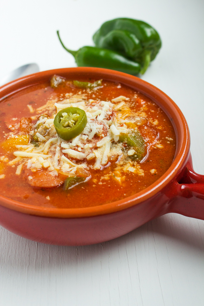 Spicy Sausage & Peppers Soup Recipe