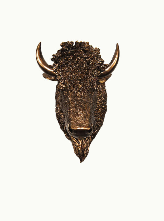 Bronze Buffalo Head