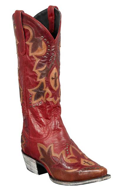 Lane-Boots-Stella-Red