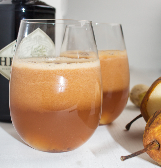 Pear Ginger & Gin Cocktails