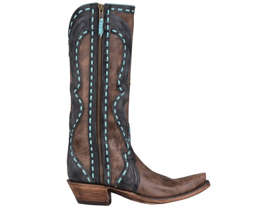 Brown-and-Turquoise-Lucchese-Boot