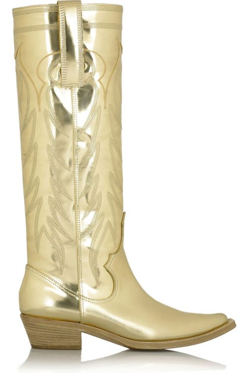 Givenchy-Gold-Leather-Boot