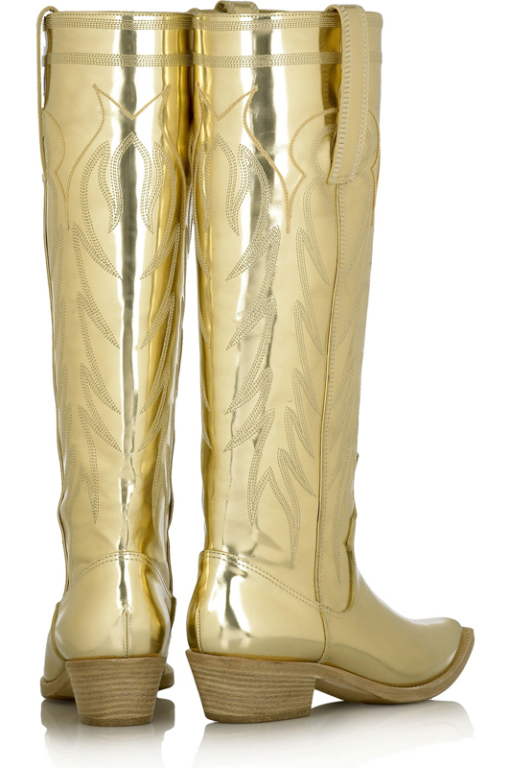 Givenchy-Gold-Leather-Boots