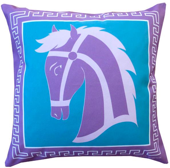 Greek Horse Pillow