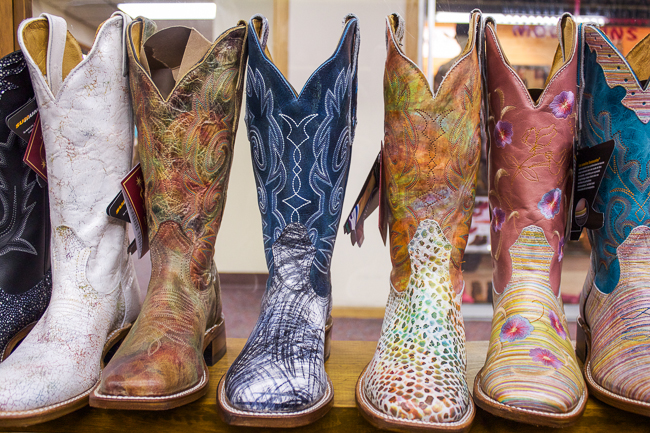 Boulet Boots at the Denver Market