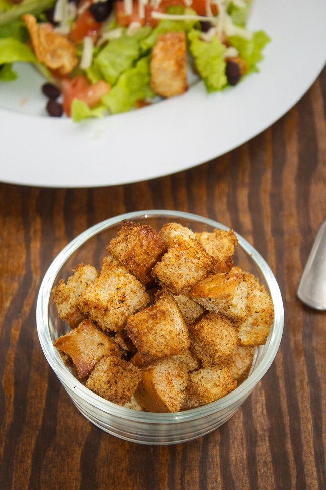 Easy homemade Mexican croutons