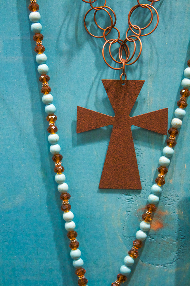 Kender West Turquoise Cross