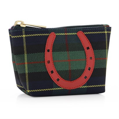 Mini Tartan Lucky Horse Shoe Bag