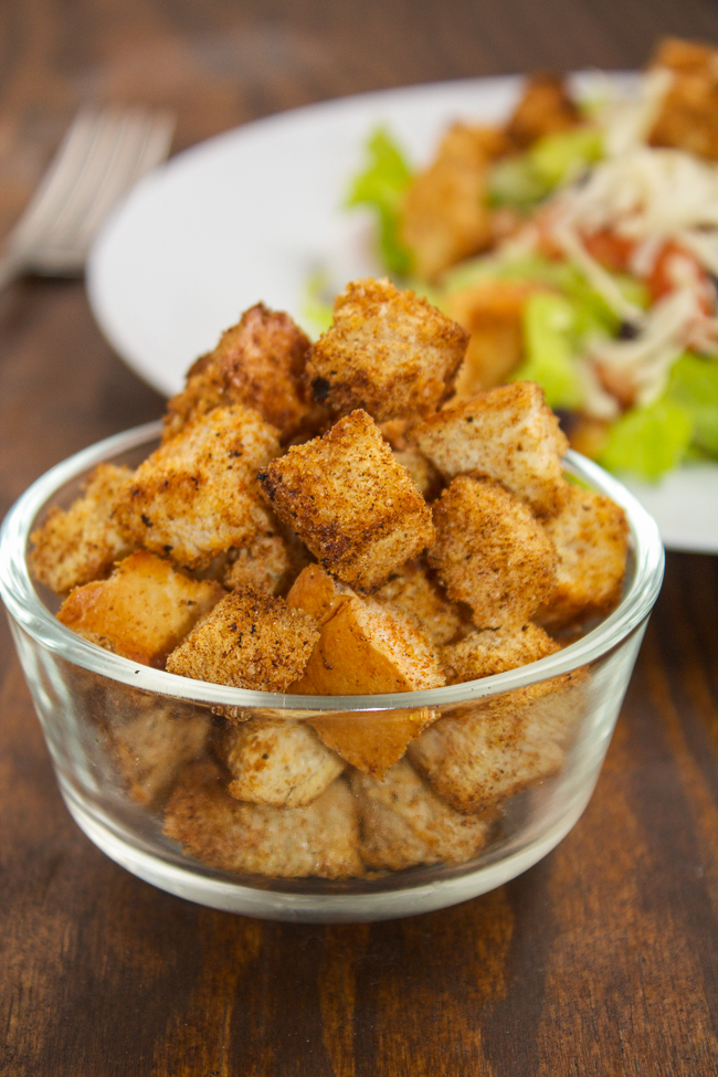 Quick and easy homemade Mexican croutons