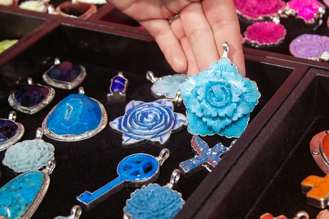 Coreen Cordova Blue Pendants