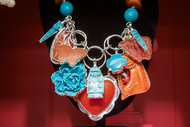 Coreen Cordova Necklace Layered with Pendants