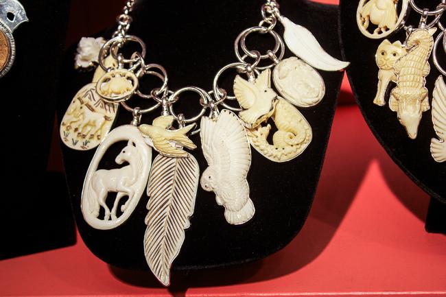 Coreen Cordova Necklace with Bone Colored Pendants