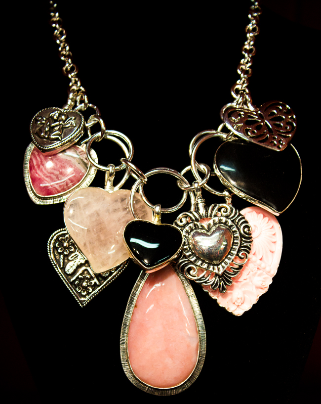 Coreen Cordova Necklace with Heart Pendants