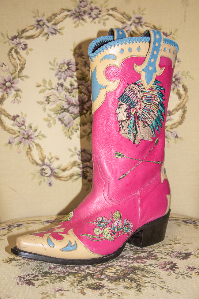 Lane & Double D Ranch Retro Inspired Boots, pink