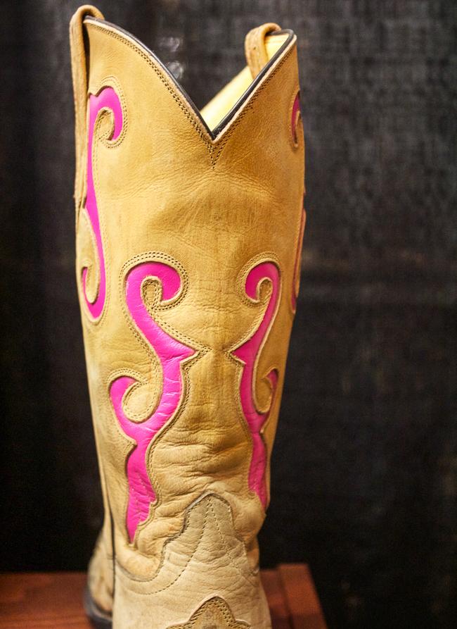 Rios of Mercedes Pink & Tan Cowboy Boots, details