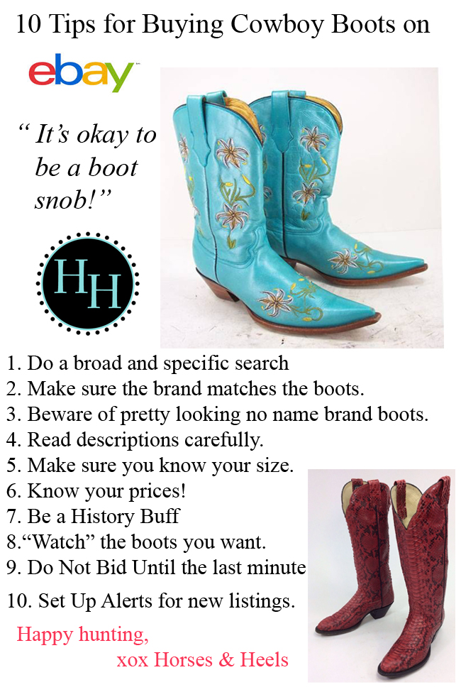 10 Tips for Buying Cowboy Boots on eBay | Horses & Heels