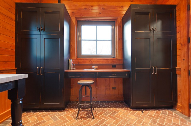 Beautiful wood and cabinets inside a barn office.jpg