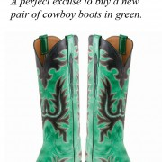 Green Lucchese Cowboy Boots