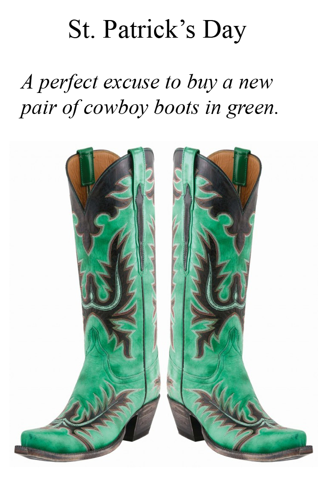 Green Lucchese Classics for St. Patrick's Day!