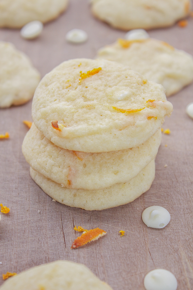 Orange White Chocolate Chip Sugar Cookie Recipe
