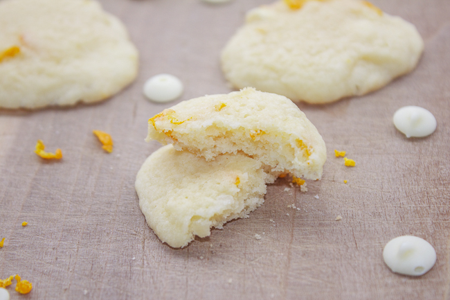 Orange White Chocolate Chip Sugar Cookie