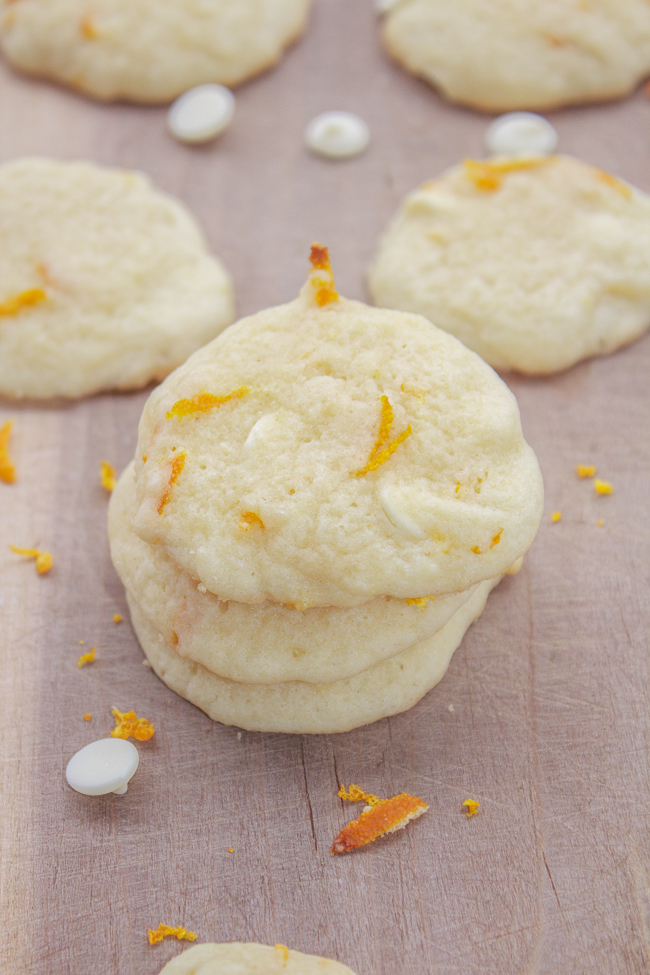Orange White Chocolate Cookies