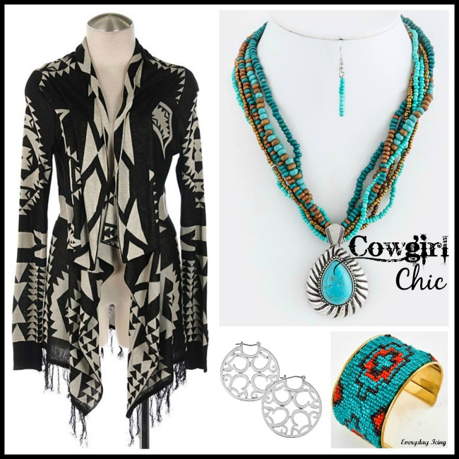 Sweater and accessories from Cowgirl Chic