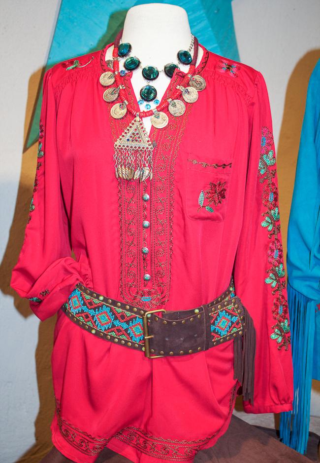 Tasha Polizzi Red Tunic and Accessories